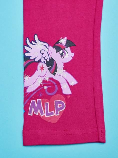 Różowe legginsy dla dziewczynki nadruk MY LITTLE PONY                                  zdj.                                  4