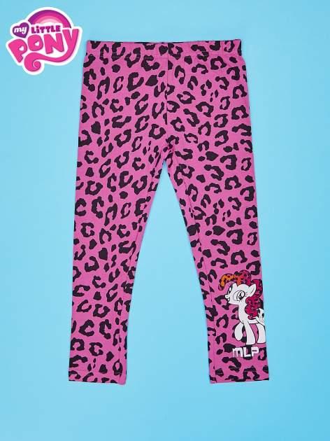 Różowe legginsy dla dziewczynki nadruk MY LITTLE PONY