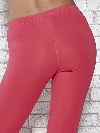 Różowe legginsy sportowe z aplikacją z dżetów na nogawkach                                  zdj.                                  7