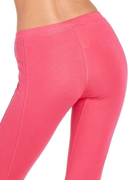 Różowe legginsy sportowe z drapowaniem                                  zdj.                                  6