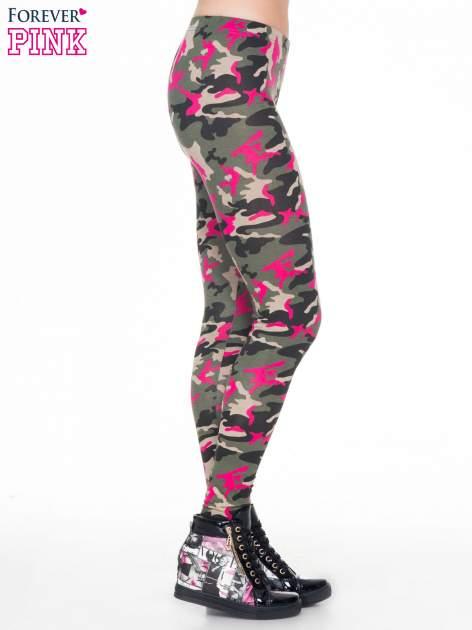 Różowe legginsy we wzór moro                                  zdj.                                  3