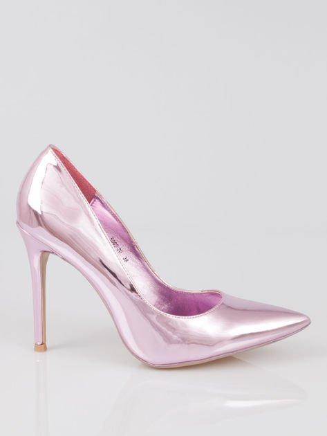 Różowe metaliczne szpilki w szpic Pinky                                  zdj.                                  1