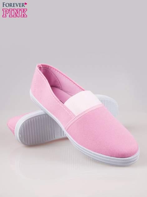 Różowe miękkie buty slip on                                  zdj.                                  4