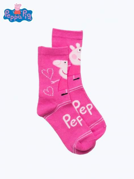 Różowe skarpetki dla dziewczynki ŚWINKA PEPPA                                  zdj.                                  1