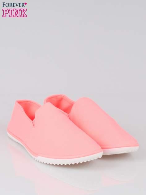 Różowe sliponki na elastycznej podeszwie                                  zdj.                                  2