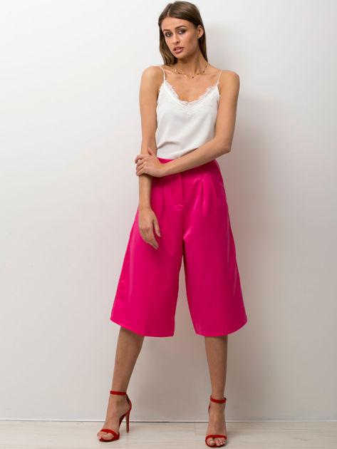 Różowe spódnicospodnie typu culottes                                  zdj.                                  2