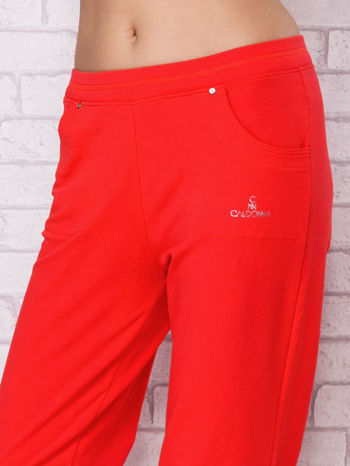 Różowe spodnie sportowe carpi ze ściągaczem                                  zdj.                                  4
