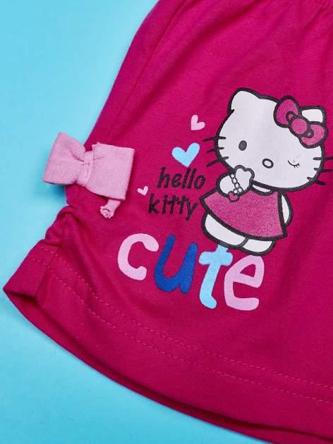 Różowe szorty dla dziewczynki motyw HELLO KITTY                                  zdj.                                  3