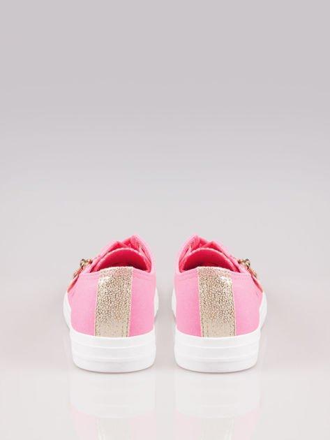 Różowe trampki damskie sliver cap toe z suwakiem z boku Isadora                                  zdj.                                  3
