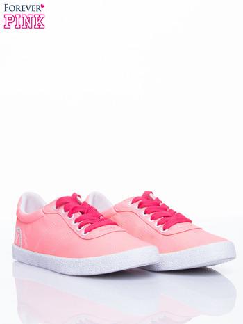 Różowe trampki w stylu casual                                  zdj.                                  3