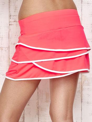 Różowo-białe spodenki spódniczka tenisowa z falbanką                                  zdj.                                  6