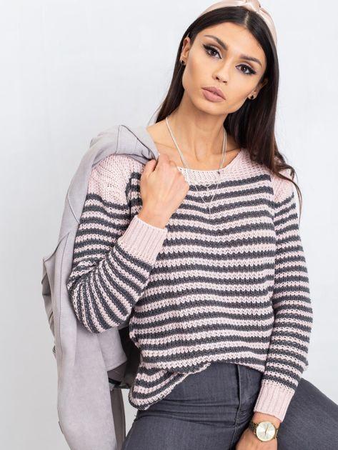 Różowo-szary sweter Oscar                              zdj.                              6