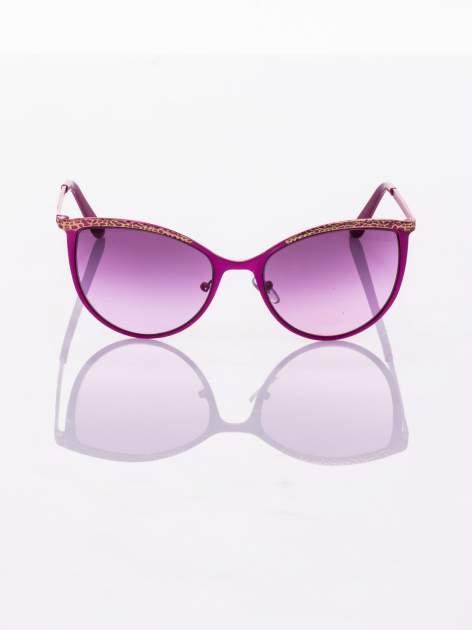 """Różowo-złote okulary przeciwsłoneczne w stylu """"KOCIE OCZY""""                                  zdj.                                  2"""