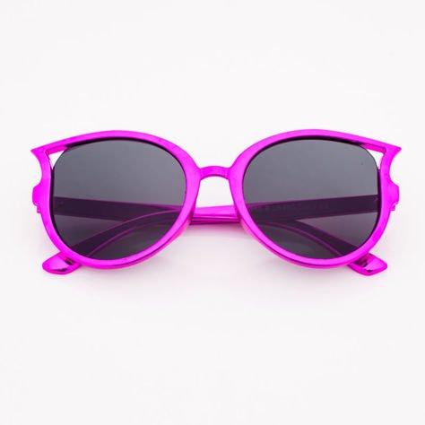 Różowofioletowe Dziecięce Okulary przeciwsłoneczne Z Metalicznym Połyskiem                              zdj.                              1