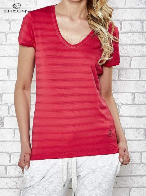 Różowy damski t-shirt sportowy PLUS SIZE                                  zdj.                                  1