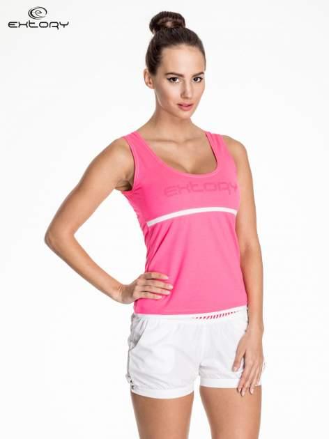 Różowy damski top sportowy z logo EXTORY