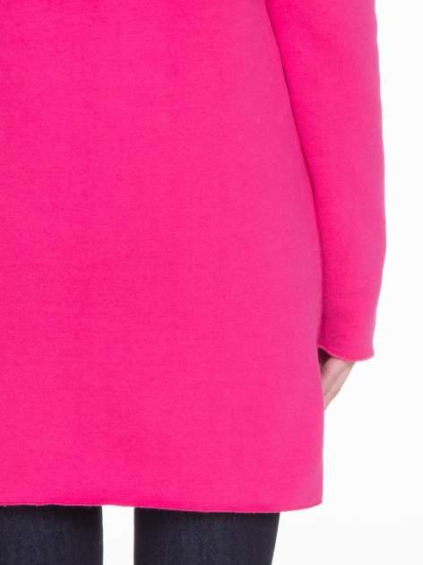 Różowy dresowy bluzopłaszczyk o pudełkowym kroju                                  zdj.                                  9