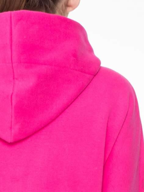 Różowy dresowy płaszcz z kapturem i kieszeniami                                  zdj.                                  8