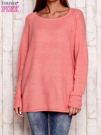 Różowy dzianinowy sweter                                   zdj.                                  1