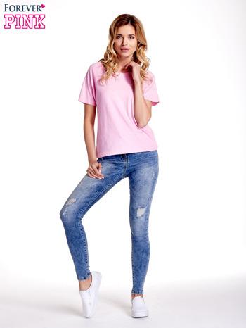 Różowy gładki t-shirt                                  zdj.                                  7