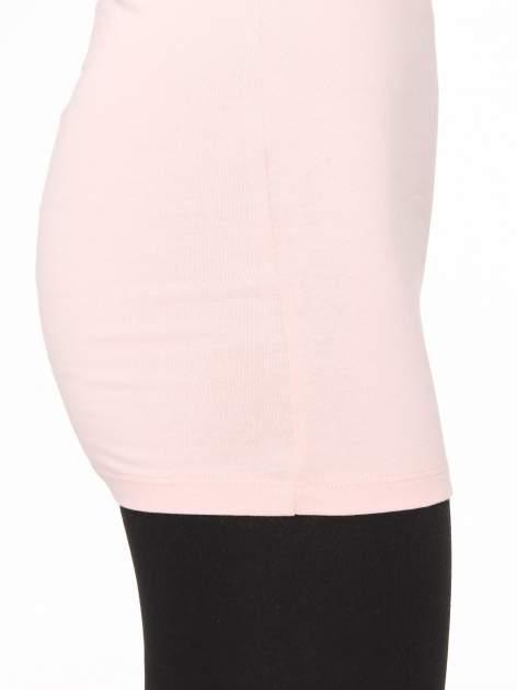 Różowy jednolity top na szerokich ramiączkach                                  zdj.                                  8