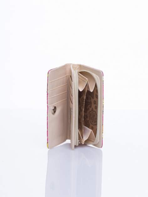 Różowy mini portfel w sówki                                  zdj.                                  3