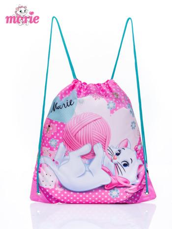 Różowy plecak worek DISNEY kotka Marie