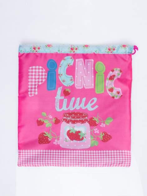 Różowy plecak worek DISNEY na piknik                                  zdj.                                  3