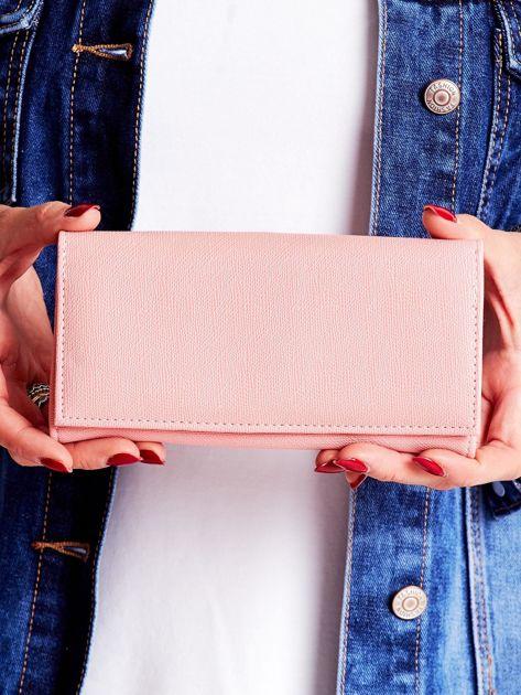 Różowy portfel damski ze skóry ekologicznej