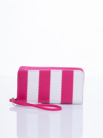 Różowy portfel w paski                                  zdj.                                  1