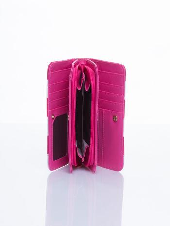 Różowy portfel w paski                                  zdj.                                  3