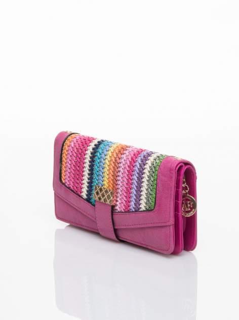 Różowy portfel z plecionką                                  zdj.                                  3