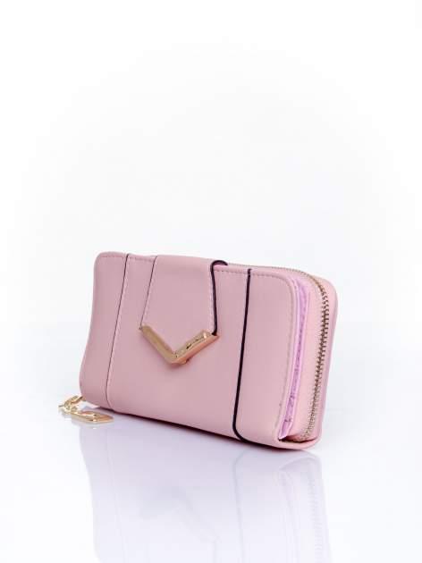Różowy portfel ze złoconą klamrą                                  zdj.                                  3