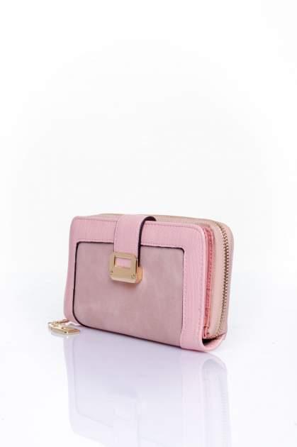 Różowy portfel ze złotą klamerką                                  zdj.                                  3