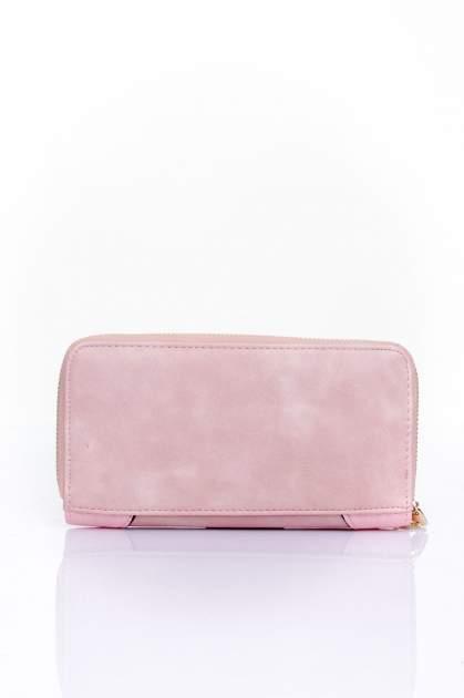 Różowy portfel ze złotą klamerką                                  zdj.                                  2