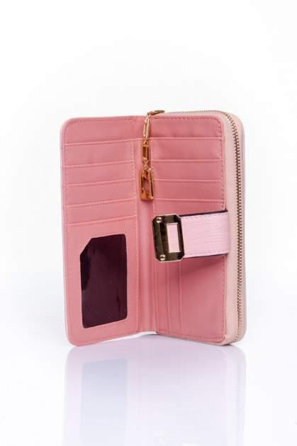 Różowy portfel ze złotą klamerką                                  zdj.                                  4