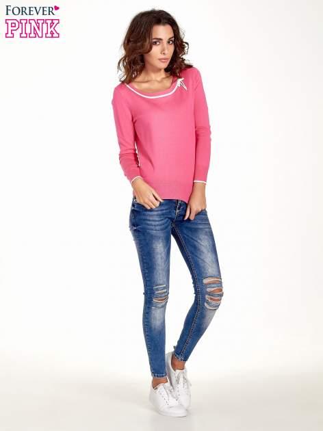 Różowy sweterek z kokardką przy dekolcie                                  zdj.                                  5