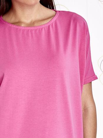 Różowy t-shirt oversize                                  zdj.                                  3