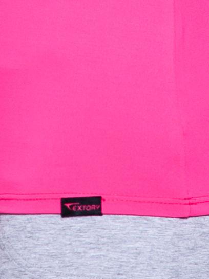 Różowy t-shirt sportowy z marszczeniem przy biuście                                  zdj.                                  5