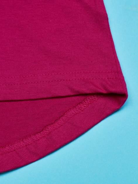 Różowy t-shirt z falbankami na rękawach dla dziewczynki ŚWINKA PEPPA                                  zdj.                                  5