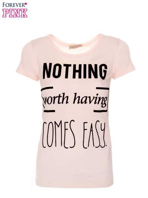 Różowy t-shirt z nadrukiem