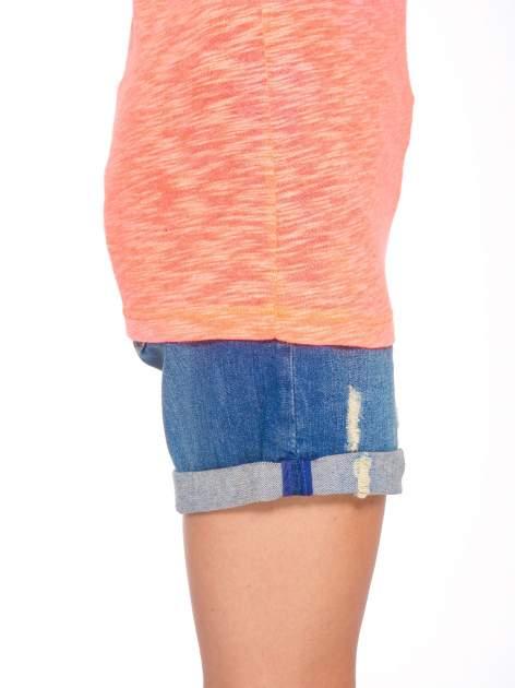 Różowy t-shirt z nadrukiem NOPE                                  zdj.                                  8