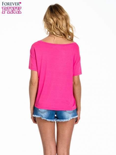 Różowy t-shirt z nadrukiem nieskończoności                                  zdj.                                  4