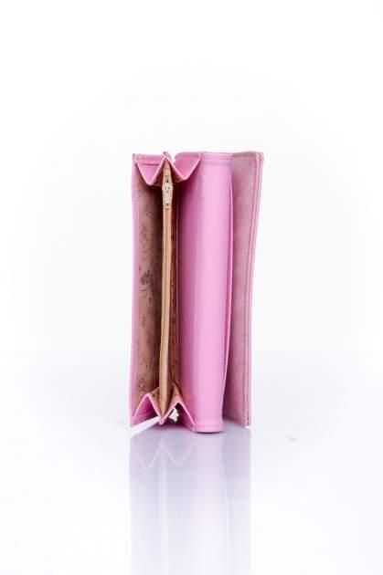Różowy zamszowy portfel z geometrycznym motywem                                  zdj.                                  5