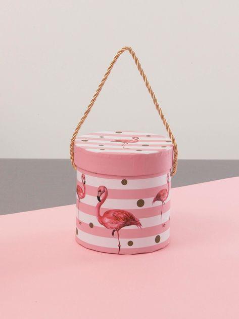 Różowy zestaw pudełek we flamingi                              zdj.                              5