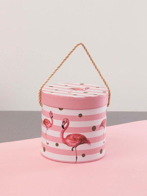 Różowy zestaw pudełek we flamingi                              zdj.                              6