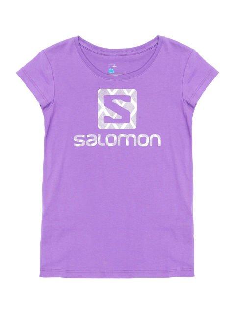SALOMON Fioletowy t-shirt dla dziewczynki                              zdj.                              1