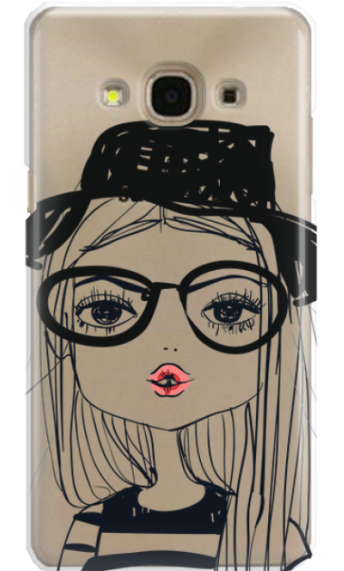 SAMSUNG J3 2017 GIRL WITH PINK LIPS