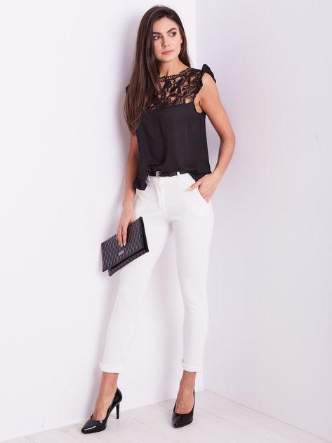 Białe spodnie damskie                              zdj.                              1