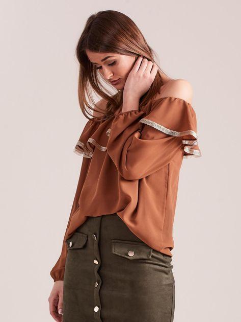 SCANDEZZA Brązowa bluzka hiszpanka                              zdj.                              5